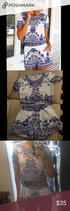 2 piece romper 2 piece romper it's a size medium but fits like a small. 📦Fast shipping 🚫no trading 🚫no off site sale will be made 🚫no holds 🚫no low balling Dresses