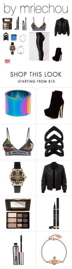 """""""Untitled #577"""" by mriechou ❤ liked on Polyvore featuring Trina Turk, Vivienne Westwood, LE3NO, Too Faced Cosmetics, Yves Saint Laurent, Benefit and Saks Fifth Avenue"""