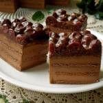 Ciasto czekoladowe z nutellą i wiśniami z nalewki