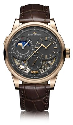 Jaeger-LeCoultre Duomètre Watches With Magnetite Grey Dials Watch Releases Click Visit link for Amazing Watches, Beautiful Watches, Cool Watches, Dream Watches, Fine Watches, Datejust Rolex, Jaeger Lecoultre Watches, Expensive Watches, Breitling Watches