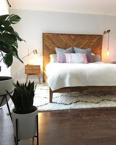 Wonderful Free modern bedroom furniture Strategies Connected with all the rooms in your own home, a person's sleeping quarters is just about the one you may spen. Bedroom Sets, Bedroom Colors, Bedroom Decor, Master Bedroom, Master Suite, West Elm Bedroom, Girls Bedroom, Wood Bedroom Furniture, Bedding Sets