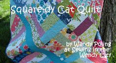Free Quilt Pattern and Tutorial - Squaredy Cat Quilt
