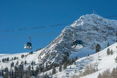 The sun is shining! Come enjoy the blue skies before the storm rolls in this afternoon!  #snowbasinresort
