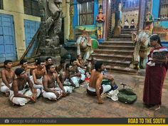 The magnificent Meenakshi temple at Madurai is always bustling with pandits and devotees. This photograph of George captures the pandits gathering in front of the temple to prepare for their ritual duties.  Know more about George's journey on the Road to the South in the galleri5 app!  #roadtothesouth #galleri5 #fotobaba #madurai #meenakshitemple #southindia #discover