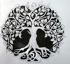 Green Celtic Tree Tattoo
