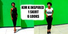 How to style | Midi-Skirt | 6 Looks | Kim K Inspired | Missguided