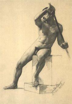 <span class='fl'>Männerakt mit Stab 1885</span><a class='fr' href='/en/biography/1862---1890/details-klimt-maennerakt-mit-stab-1885.dhtml'>read more</a><div class='clr'></div>