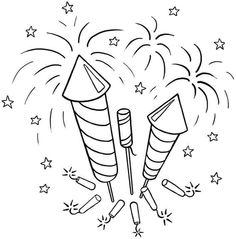 coloring pages of fireworks - fireworks clip art coloring page pictures to pin on