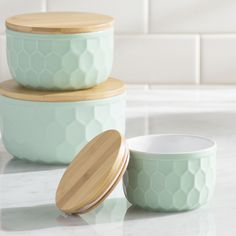 Mint Pantry Bergamot 3 Piece Ceramic Mixing Bowl Set. Cheaper at Joss & Main.