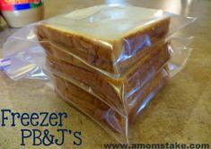 Freeze Your PB&J Sandwiches