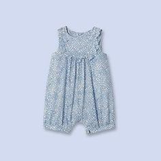 Liberty print romper BLUE MULTICOL. Girl - Baby Clothes - Jacadi Paris  Imprimé Liberty d699abce352