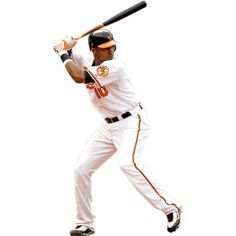 Baltimore Orioles fan? Prove it! Put your passion on display with a giant Adam Jones Fathead wall decal!
