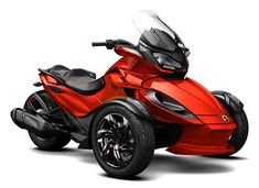 2016 Can-Am Spyder RS-S Magma Red Steel Black Metallic, Take style to the next level with the Spyder RS-S with a premium sport appearance package including machined wheels, two-tone co Led Light Pipe, Can Am Spyder, Trike Motorcycle, Bike, California Ca, Fuel Economy, Motorcycles For Sale, Touring, Cool Stuff