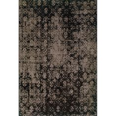 Grey/ Black Area Rug (5' x 7'6) | Overstock.com
