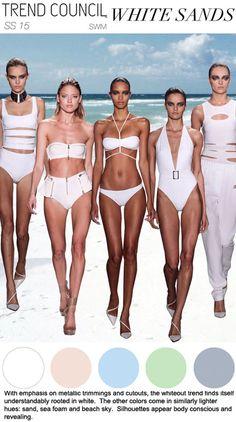 SS 2015, women's swimwear trend forecast, white sands