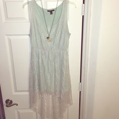 White lace high low dress target