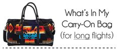 Tips for what to pack in your carry-on bag on an international flight.