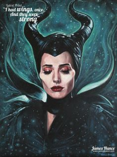 A Moment of Silence for Maleficent's Wings - fan art