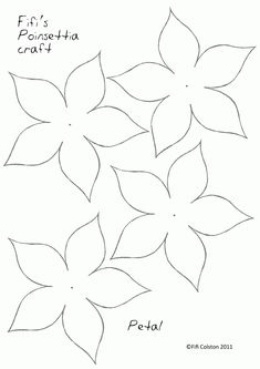 Merry Christmas and all the very best for the coming year, Fifi - Fifi Colston Creative: Pretty Paper Poinsettias - Printable Poinsettia Template