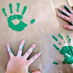 Easy Mother's Day wrapping paper DIY from the kids