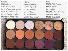 Makeup forever artist shadows. One of the best shadows I've come across. I need the whole bottom row ughhh!