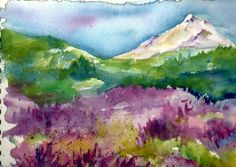 Mount Hood with Lavender by Jacqueline Newbold
