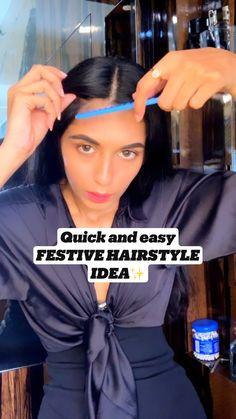 Hair Scarf Styles, Front Hair Styles, Medium Hair Styles, Natural Hair Styles, Hair Tips Video, Hair Videos, Cute Simple Hairstyles, Easy Hairstyles, Hair Upstyles