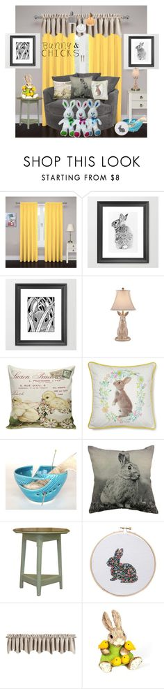 """Must Love Rabbits"" by sojazzed ❤ liked on Polyvore featuring interior, interiors, interior design, home, home decor, interior decorating, DutchCrafters, Sun Zero and bunnyandchicks"