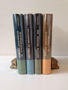 Popular Science Living Library Decorative Book Bundle (1950s-1960s)