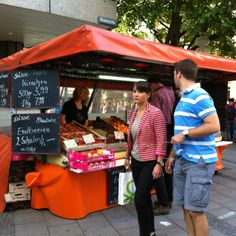 Fruit stand in Munich, Germany