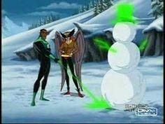 Green Lantern and Hawkgirl snow man