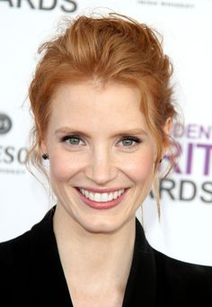 jessica chastain how do you not love that smile. PERFECTION!