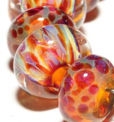 Boro Beads Glass Lampwork Beads Lampwork Borosilicate by amie3, $18.00