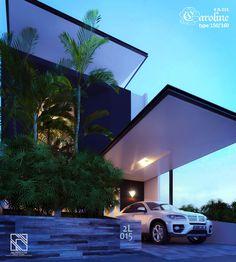 Desain Rumah 2 Lantai type 150 Caroline 2L015 view 1