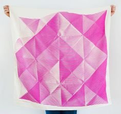 Folded Paper Furoshiki Pink cloth and scarf | the link collective