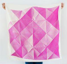 Folded Paper Furoshiki Pink. Furoshiki Japanese multi wrapping cloth and scarf.
