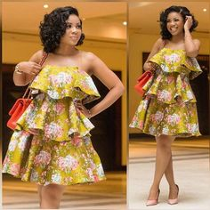African women dress African print dress African fashion women midi dress Ankara dress ladies dress boho dress teared dress Made to order and shipped from Houston. Many other fabrics available Ankara Short Gown Styles, Short African Dresses, Latest African Fashion Dresses, African Print Dresses, African Print Fashion, Ankara Fashion, Nigerian Fashion, African Dress Designs, Africa Fashion