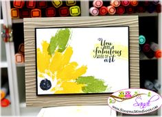 Stampin Up Work of Art Flowers