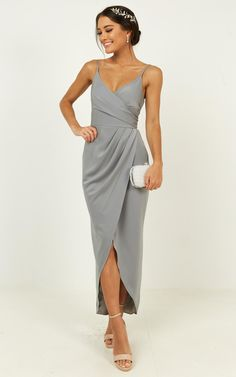 Complete your look with the How Will I Know Dress In Dusty Blue from Showpo! Buy now, wear tomorrow with easy returns available. Gray Dress, Blue Dresses, Dress Up, Prom Dresses, Formal Dresses, Dusty Blue Dress, Gray Bridesmaid Dresses, Flattering Bridesmaid Dresses, Bridesmaids