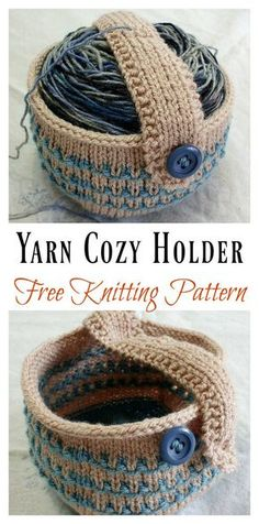 Yarn Cozy Holder Free Knitting Pattern #freeknittingpattern #organize