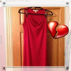 hot red dress Satin material. With leather and silver buckles just reduced MICHAEL Michael Kors Dresses