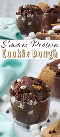 S'mores Protein Cookie Dough - a secretly healthy way to enjoy your favorite summer campfire treat, this cookie dough includes chickpeas and a protein boost!