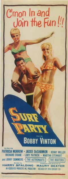 Great poster for a Surf's Up Party!