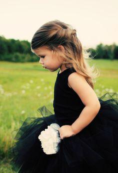 Fancy - Full Black Tulle Skirt for a little girl.   Special occasion dress.