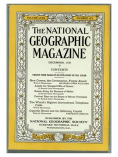 The National Geographic Magazine, December, 1930