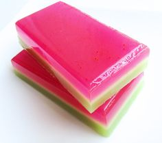 Summer Melon Soap Bar  Watermelon Soap  by SweetbathConfections, $5.50