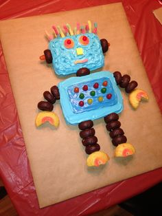 ROBOT CAKE! Thanks Pinterest for the inspiration. Fun for robot birthday!