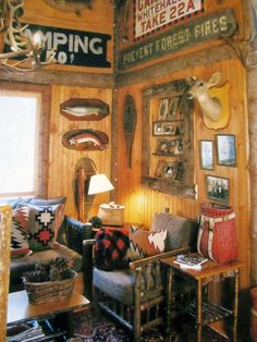 5 Celebrities Awesome Cabin In The Woods - Modern Survival Living Lake Cabins, Cabins And Cottages, Rustic Style, Rustic Decor, Rustic Design, Rustic Wood, Log Cabin Living, Vintage Cabin, Vintage Picnic