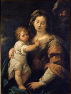Nuvolone Carlo Francesco - Sacra Famiglia - 1650 - Accademia Carrara di Bergamo Pinacoteca