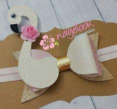 Flower Hair Bows, Diy Hair Bows, Making Hair Bows, Diy Bow, Flamingo Craft, Bow Template, Diy Baby Headbands, Felt Hair Clips, Bow Pattern
